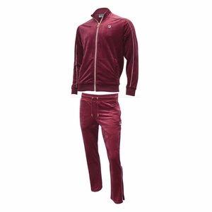 Fila Vintage Men Red Velour tracksuit New Size M
